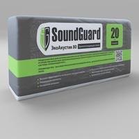 Плита звукопоглощающая ЭкоПлита 80 SoundGuard EcoAcoustic  1250х600х20 мм 0,15м3/7,5м2 ; 11,25 кг (уп)