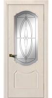 Дверь  Богема жемчуг тон 27 стекло белое гравировка