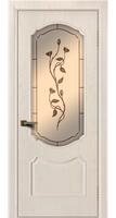Дверь  Богема жемчуг тон 27 стекло бронза