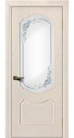 Дверь  Богема жемчуг тон 27 стекло 3Д Роза
