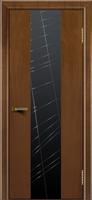 Дверь Камелия К 4 американский орех тон 23 стекло графит