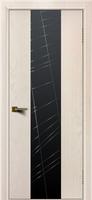 Дверь модель Камелия К4 Ясень жемчуг тон 27 стекло графит