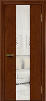 Дверь  Камелия К 4 (красное дерево тон 10) стекло Водопад
