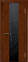 Дверь  Камелия К 4 (красное дерево тон 10) стекло Графит