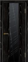 Дверь модель Кмелия К4 Черная эмаль тон 26 стекло графит