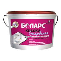 Боларс супербелая для стен и потолков водно-дисперсионная (15 кг)