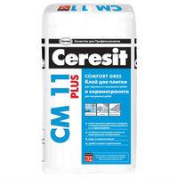 Клей Ceresit СМ 11 Plus для крепления керамической плитки для внутренних и наружных работ и для керамогранита для внутренних работ