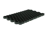 Газонная решётка Gidrolica® Eco Super РГ-60.40.6,4 пластиковая чёрная