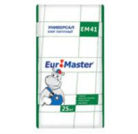 Euromaster Универсал ЕМ41 плиточный клей для внутренних и наружных работ (25 кг)