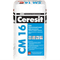 Эластичный клей Ceresit СМ 16 для плитки для наружных и внутренних работ