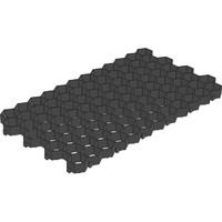 Решётка газонная Gidrolica® Eco Standart РГ-70.40.3,2 пластиковая чёрная
