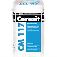 Эластичный клей для фасадной плитки, керамогранита и облицовочного камня Ceresit СМ 117