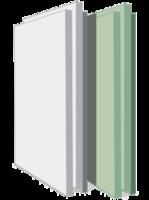 Гипсовая полнотелая  плита 500х667х80