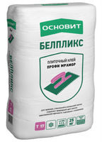 Основит Белпликс Т-17 клей профи мрамор белый для мрамора, стеклянной и мозаичной плитки (25 кг)