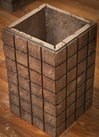 "Блок колонны ""Геометрия"" 370х500 (серо-зелёный)"