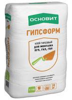 Основит Гипсформ Т-115 клей гипсовый для монтажа ПГП, ГКЛ, ГВЛ (20 кг)