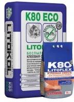 Беспылевая клеевая смесь LITOFLEX K80 eco 25 кг