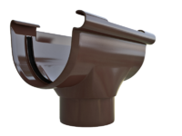 Воронка желоба ПВХ ТН D125/80 цвет белый и коричневый